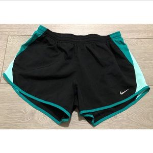Nike Athletic Black And Teal Running Shorts